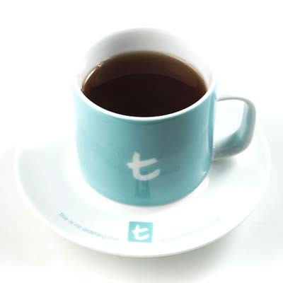 t Series t-Mug & Saucer-Skyblue