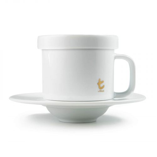 Pos t Series Tea Mug & Saucer With Lid
