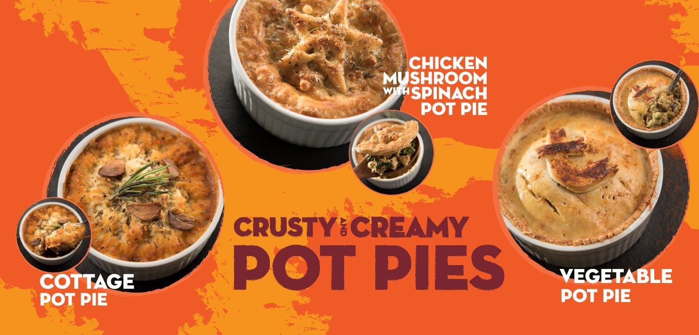 Crusty and Creamy Pot Pies