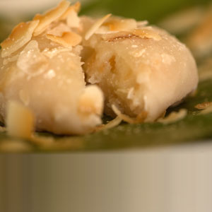Toasted Coconut and Almond Mochi
