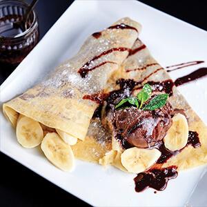 Chocolate Hazelnut Crepe