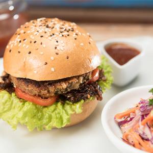 Green Lentil Falafel Burger