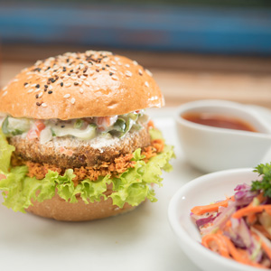 Spicy Tuna & Potato Cutlet Burger