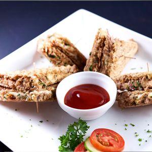 Tuna, Cheddar and Spring Onion Melt Toasty