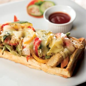 Grilled Vegetable Waffle