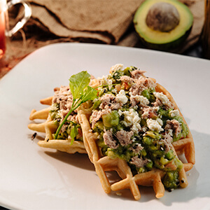 Guacamole Tuna Waffle
