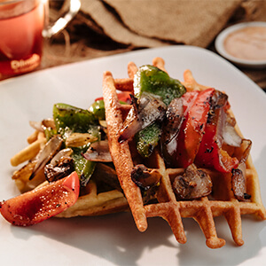 Loaded Vegetable Waffle