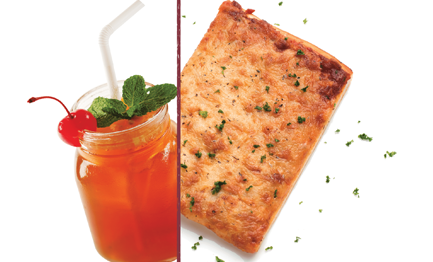 Tea Inspired Cheese and Tomato Pizza Iced Tea min