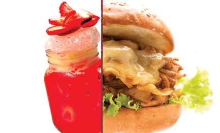 Tea Inspired Chicken Burger Iced Tea min