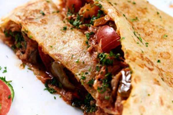 Spicy Chicken Crepe