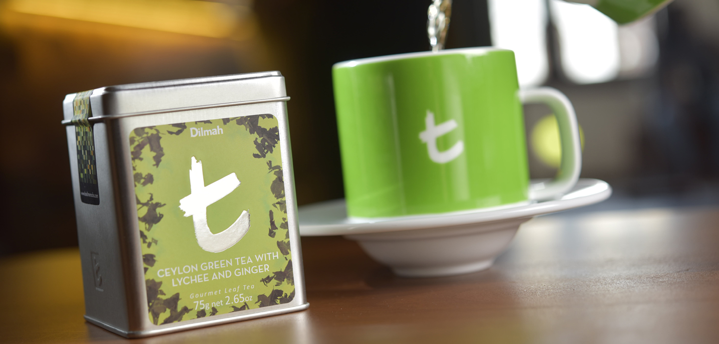 Ceylon Green Tea with <br>Lychee and Ginger